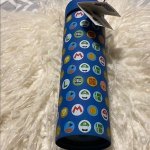 NWT! Mario stainless steel water bottle.